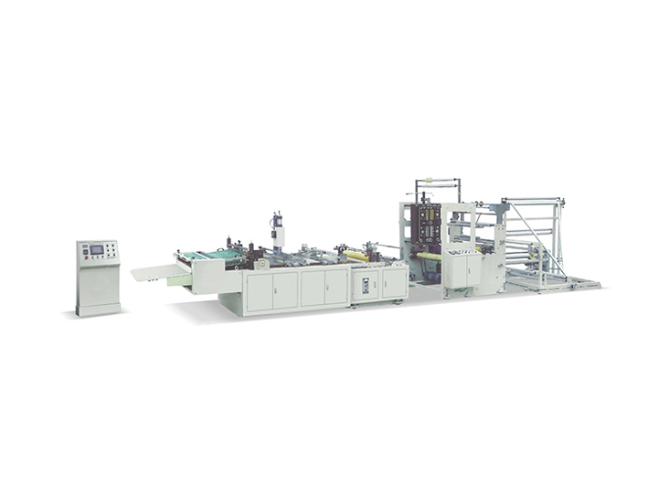 Zipper bonding bag making machine