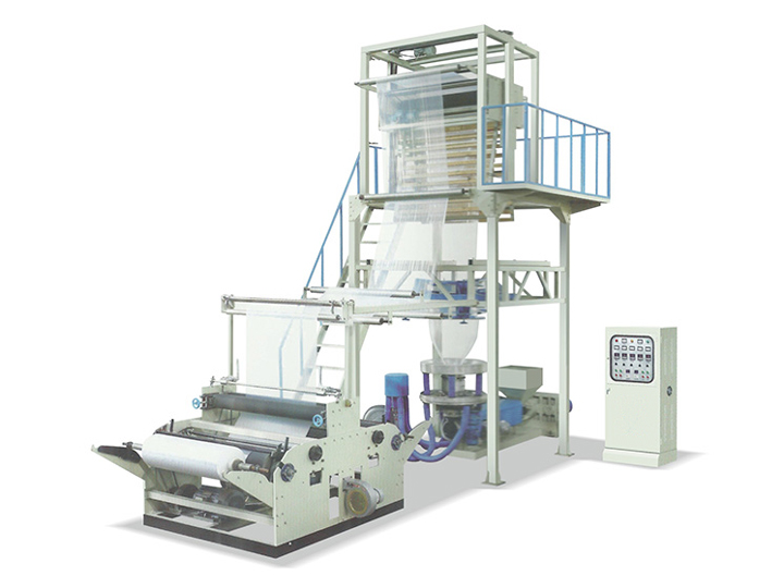 Three-layer co-extrusion film blowing machine