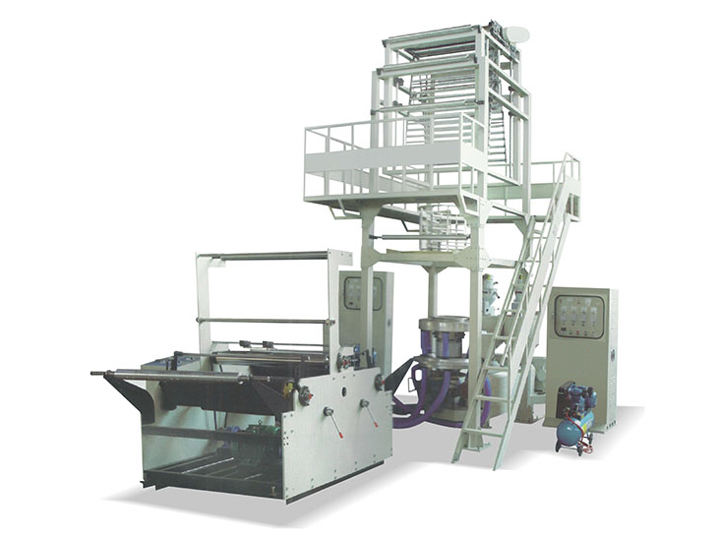 Two-layer co-extrusion rotary head blown film machine